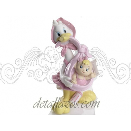 Figuras de tarta cigüeña adorable