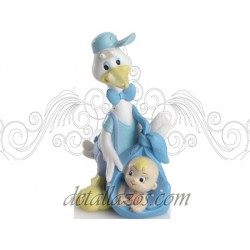Figuras de tarta cigüeña azul