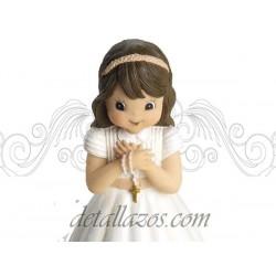 Portafotos niña con rosario