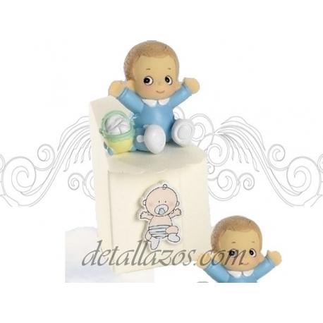 Cajitas de bautizos niño con gorrito