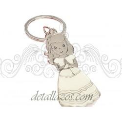Llaveros vestido blanco