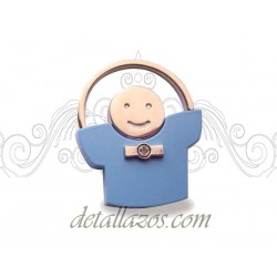 Llaveros niño pijama azul