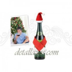 decoración de botellas para navidad