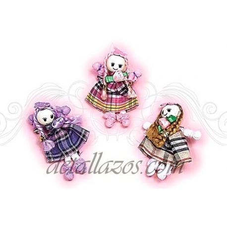 Broche muñecas de cuadro