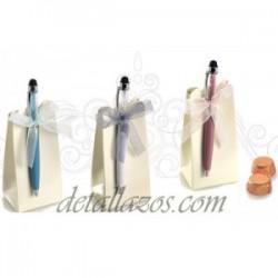 Bolígrafo Para Bodas Cristalitos Caja
