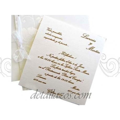 invitaciones bodas impresas