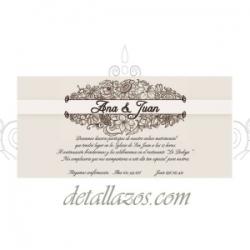 invitaciones floral para bodas