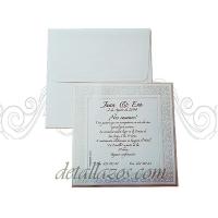 Invitaciones de boda en relieve