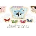 Broches mariposas brillantes