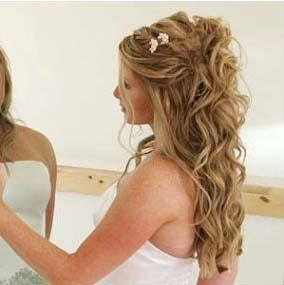Peinados de semirecogidos para novias for Imagenes semirecogidos