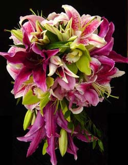 Ramo de orquideas para novias