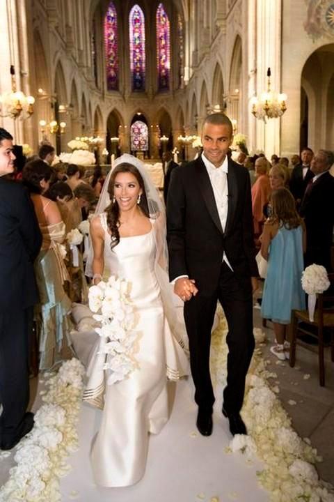 boda de eva longoria y tony parker, vestidos de novias famosas