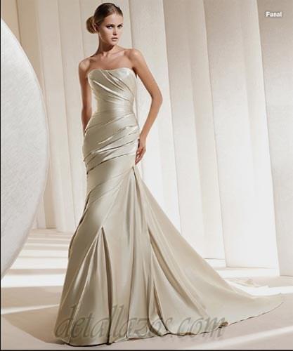 Vestido de novia de color crema