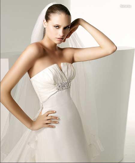 manuel mota colección 2009 vestido de novia, novias, vestido de boda