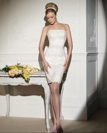 Vestidos de novia cortos 73 de 88 fotos