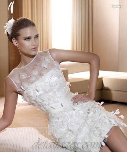 vestidos de novia cortos 72 de 88 fotos