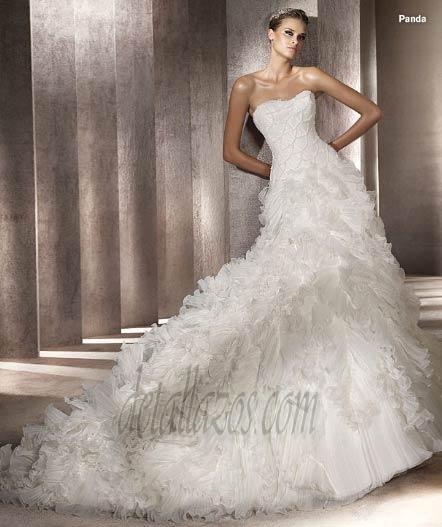 pronovias colección 2012, vestido de novia
