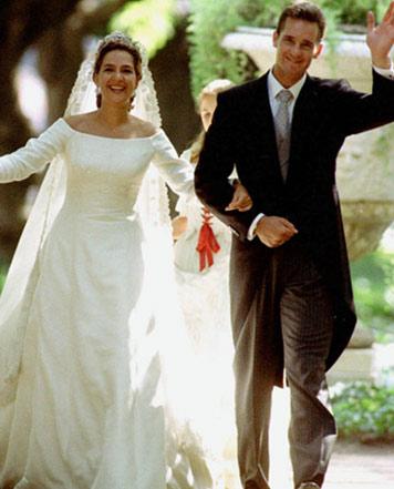 boda de la infanta doña cristina e iñaki urdangarín, vestidos de