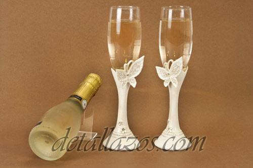 Copas de brindis luminosos para novios detalles de boda for Copas de cristal
