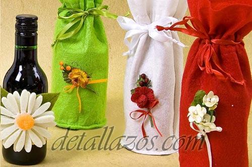 bolsas decoradas para botellas vino 1 detalles para bodas ...