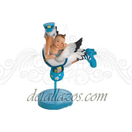 Figuras de tarta cigüeña volando