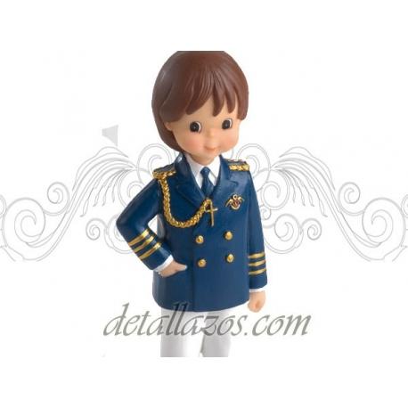 Portafotos niño de almirante en azul