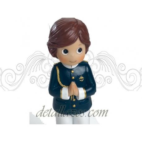 Portafotos niño almirante casaca azul