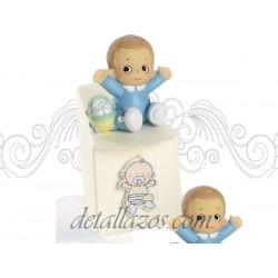 Cajitas de bautizos niño con pijama