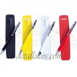 Bolígrafos metalicos funda