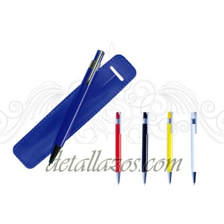 Bolígrafos metalicos recargables personalizados