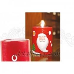 velas de papa noel personalizadas