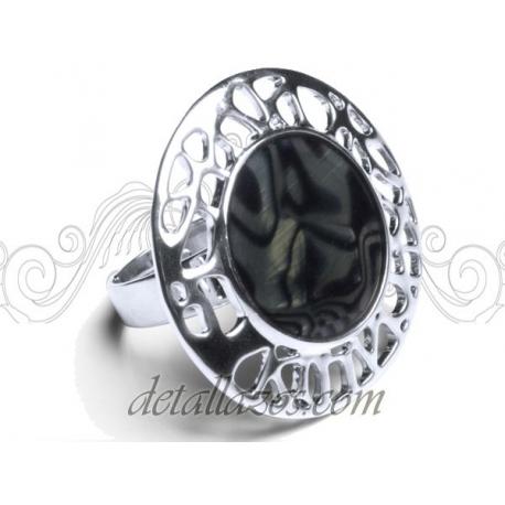 Anillos negro y plata de mujer de Antonio Miro