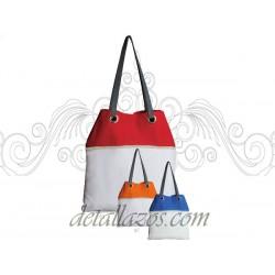 Bolsa bicolor para la playa