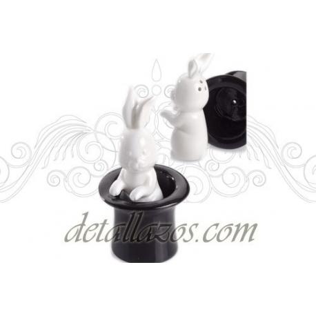 Saleros de conejo en chisterra para bodas detalles de boda - Saleros originales ...