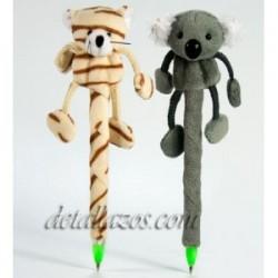 Bolígrafos peluches