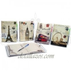 Libretas Vintage Bolígrafo