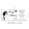 Invitación barata romántica