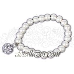 Pulseras de perlas borlón