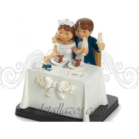 muñecos para la tarta