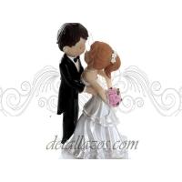 Muñecos románticos para la tarta