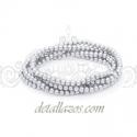 Pulseras para bodas perlas plateadas