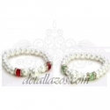 Pulsera perlas abalorios