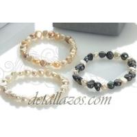 Pulseras perlas naturales