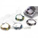 Pulseras charms y cristal
