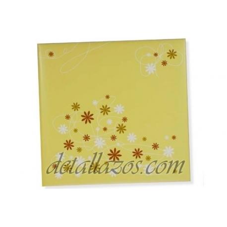 Libro de firmas florales