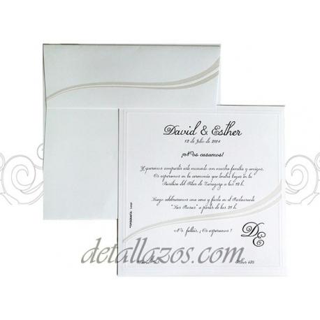 Invitaciones de boda onda