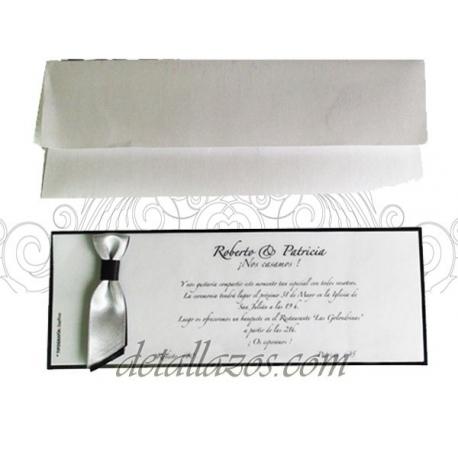 Invitaciones de boda gris y negro