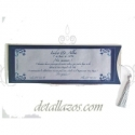 Invitaciones de boda azul y plata