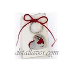 Llavero corazón doble caramelos