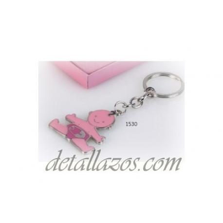 Llaveros bebé rosa